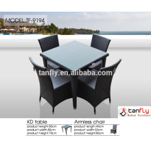poly rattan dining set vietnam furniture