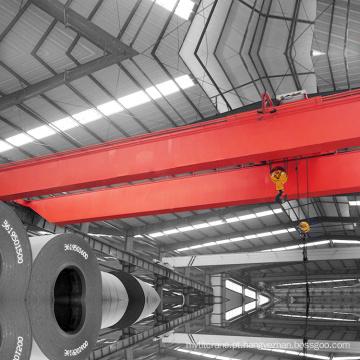 Guindaste pesado do equipamento da viga dobro elétrica para a fábrica
