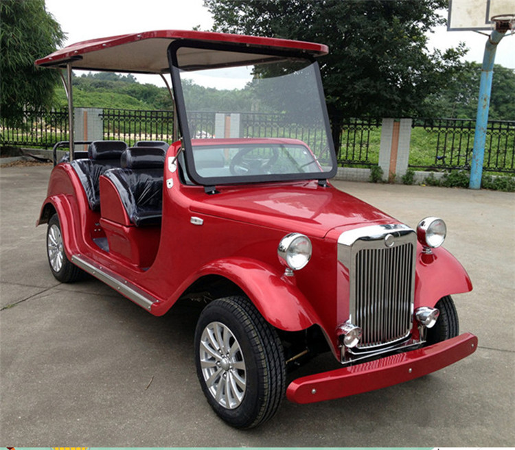 classic gas powered golf cart with fiberglass bodies
