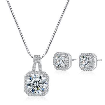 925 joyería pendientes y pendientes de plata con CZ