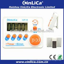 Sirène et minuterie LCD bon marché, mini sirène et minuterie de cuisine numérique, minuterie de cuisine électronique avec aimant