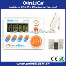 Sirene & timer baratos do LCD, mini sirene & temporizador digitais da cozinha, temporizador eletrônico da cozinha com ímã