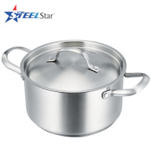 FDA LFGB certification stainless steel cookware with steel lid