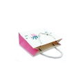 Portable paper shopping bag with handle