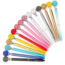 2021 Novelty Beautiful Stylus Big Diamond Ballpoint Pen Colorful Metal Pen With Custom Logo For Gift