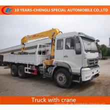 HOWO 6X4 266HP LKW mit geradem Ausleger Kran
