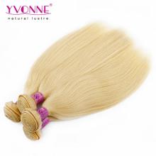 Blonde Farbe 100% peruanische gerade menschliches Haar
