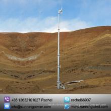Système d'énergie éolienne de 5000W, énergie éolienne autonome de support-grille