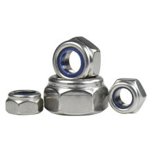 DIN982 zinc plated hex nylon insert lock nut ISO7040  torque type hexagon nuts