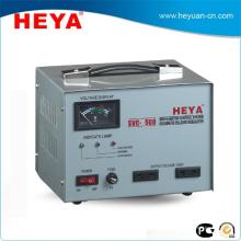 Régulateur de tension automatique de contrôle de servomoteur SVC 500VA avec afficheur de compteur