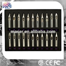 Best Price 22pcs stainless tattoo needle tips,stainless steel tattoo tips