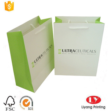 Shopping bag in carta regalo cosmetica personalizzata