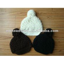 Sombrero de acrílico hecho a mano de la mano de la señora de la manera