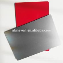 Painel composto de alumínio núcleo de alto brilho escovado revestimento para decoração de revestimento de parede