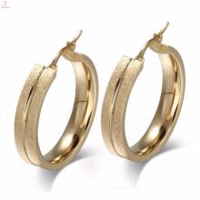 Promessa Juli aço inoxidável Hoop Brinco Design de jóias