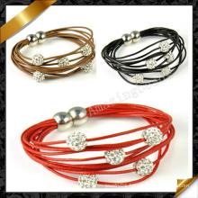Wholesale Fashion Jewelry Leather Bracelet (FB085)