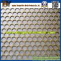 Metal perforado con orificio oblongo con hoja galvanizada