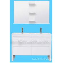 2013 High Gloss Wall Mounted MDF Bathroom Cabinet Double Sinks