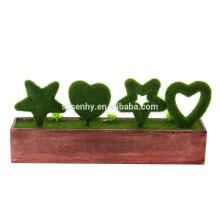 Movendo letras de alegria, decoração de jardim de madeira de Natal