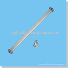 Cortina accesorios-tapa de la tapa de la cortina de metal (tamaño grande) para el carril inferior redondo del componente de la cubierta de la ventana-persiana del rodillo