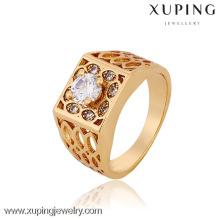 12770-Xuping bijoux usine en gros saudi hommes en or anneaux