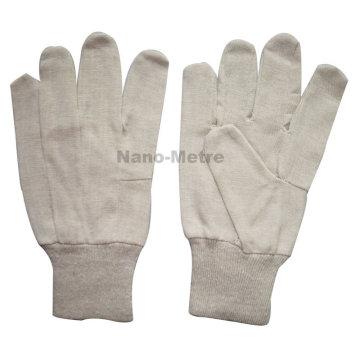 Gant de forage de coton de 8oz de NMSAFETY, gants tricotés de travail de coton de poignet tricoté