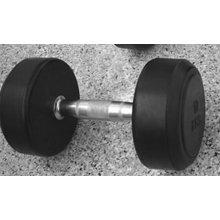 Fixed Black Rubber Dumbbell / Round Rubber Dumbbell XR-101
