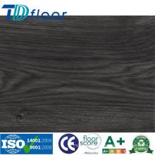 Telhas de assoalho pretas da cor da configuração frouxa assoalho do vinil do PVC da espessura de 5,0 milímetros