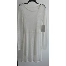 100% акриловые Laides с длинным рукавом вязать пуловер свитер платье