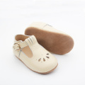 Cream Buckle Lacework Baby Dress T Bar Shoes