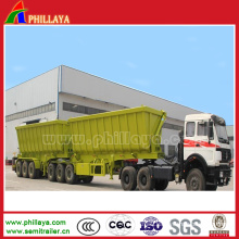 3 Axles B-Double 60ton Side Lifter Tipping Dump Semi Trailer