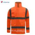ANSI 107 Réfléchissant Haute Visibilité Hiver Veste De Sécurité Imperméable À L'eau Salut Vis Vêtements De Travail Parka Orange Imperméable