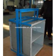 8 pisos Diseño personalizado 0.4m / s con estructura de acero 3 fases 220v Dumbwatiter