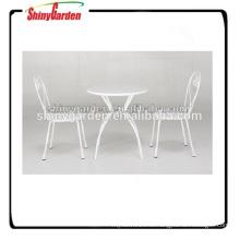 muebles de restaurante jardín de acero al aire libre conjunto de muebles de malla