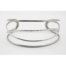 Spezielle Design silberne Manschette Twisty Armreif Armband