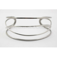 Special design silver cuff twisty bangle bracelet