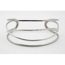 Специальный дизайн браслет из серебра с манжетами из крученого браслета