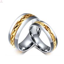 2017 Titan Stahlüberzug Goldring Schloss Design für Paare