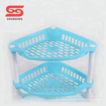 Plastic 2-layer multifunctional kitchen plastic storage rack