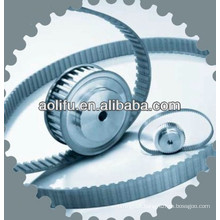 Aluminum pulleys for industrial machines