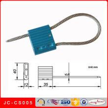 Jc-CS005 Scellé métallique de câble de sécurité de style de bande de matériel et de bande de cachetage