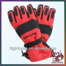 Красный Водонепроницаемый Thinsulate Self-hear Полиэстер Новый стиль Лыжные перчатки