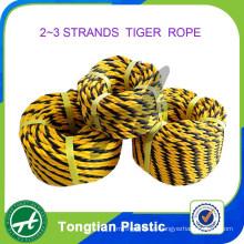 China Factory 2 Strands 3 Strands polietileno cuerda del tigre