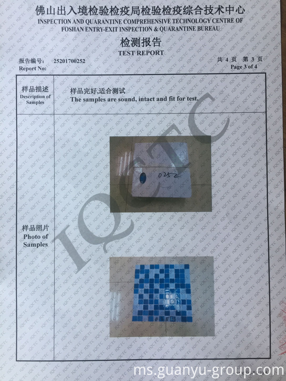 Guanyu Mosaic Test Report P3