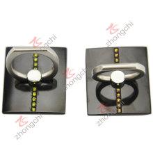 Reutilizable Stcky 360 grados de rotación dedo agarre teléfono titular (pH)