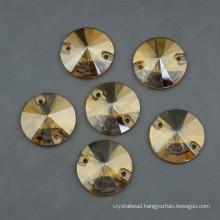 Round Gloden Glass Stones Grament Beads (DZ-3041)