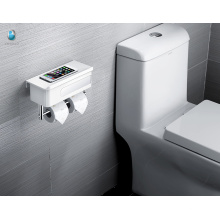 Minimalism White ABS Multifunction Roll Toilet Paper Holder With Storage Shelf