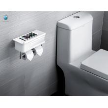 Minimalismo Branco ABS Multifuncional Roll Suporte de papel higiênico com prateleira de armazenamento