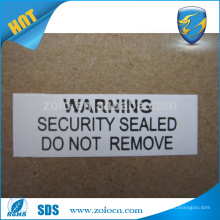 Difficult to peel off packing destructible cable label sticker