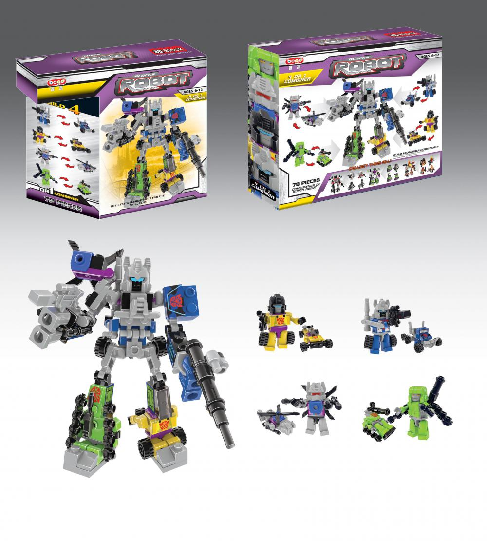 The Hurricane Fighter 4 in 1 Robot Building Blocks